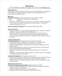 Resume Sample For Construction Worker by Construction Resume Construction Project Manager Resume