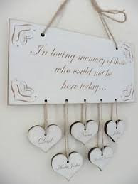 in loving memory wedding sign personalised in loving memory wedding sign names hearts wooden