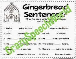 gingerbread grammar plus freebie