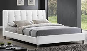 amazon com baxton studio vino modern bed with upholstered
