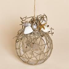 83mm acrylic ornament with nautical netting shells starfish