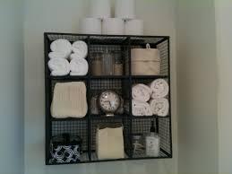 Decorative Bathroom Shelves by Bathroom Trendy Black Iron Open Shelves Over The Toilet Storage