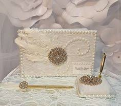 wedding guest book set personalized wedding guest book wedding signing book customized