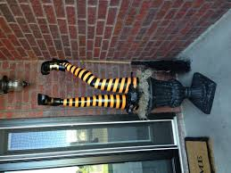 halloween decor witch legs came from grandinroad com holiday