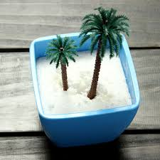 diy micro landscape mini artificial coconut tree decoration garden