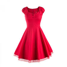 vintage 50s women swing cocktail tea dress summer pin up party
