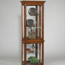 Antique Curio Cabinet With Clock Pulaski Curio Cabinets Foter