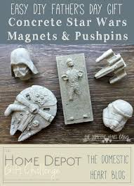 easy diy s day gift concrete starwars magnets pushpins easy diy s day gift