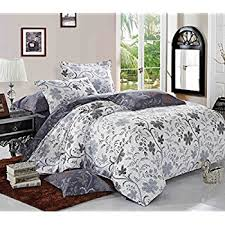 What Size Is King Size Duvet Cover Amazon Com 100 Cotton 3pcs Duvet Cover And Shams Bedding Set