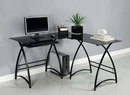 modern black desk altra modern black chrome computer desk