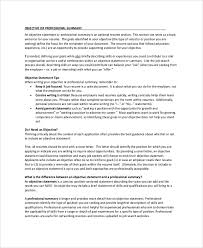 Samples Of Objective Statements For Resumes by Sample Resume Objective 9 Examples In Pdf Word