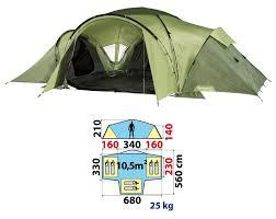 tente 3 chambres toile de tente quechua t6 3