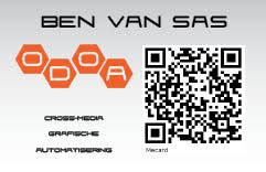 Business Card With Qr Code Qr Code Generator Mecard