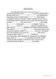9 free esl mad libs worksheets
