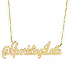 Gold Nameplate Custom Gold Nameplate Necklace The Necklace