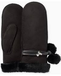 ugg womens gloves sale ugg gloves leather gloves winter gloves mittens lyst