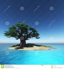 tree on island and the stock illustration image 35108564