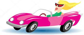 cartoon convertible car blonde in convertible cartoon stock vector kk inc 10460472