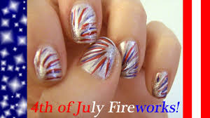 Nail Art Designs July 4 4th Of July Independence Day Nail Art Design Firework Color