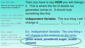 how to find your independent variables with a friction lab for