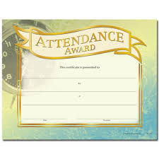 attendance award gold foil stamped certificates positive promotions