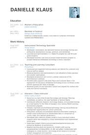 Undergraduate Resume Example by Instructional Technology Specialist Resume Samples Visualcv