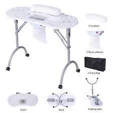 manicure nail table station foldable vented manicure nail table portable station desk spa salon