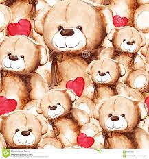 s day teddy lovely teddy s day seamless pattern