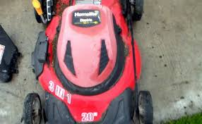homelite 20 inch electric lawn mower youtube