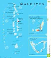Kings Island Map Maldives Political Map Stock Vector Image 74516994