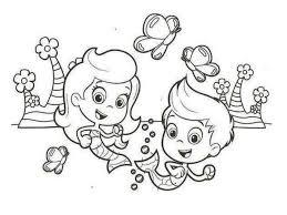 bubble guppies coloring page printable molly bubble guppies