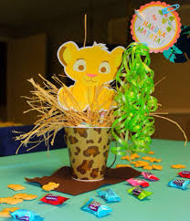 Centerpieces For Baby Shower by Homemade Lion King Baby Shower Centerpieces Decoration