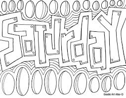 enjoy some days of the week coloring pages these are perfect to