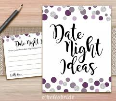 Newlywed Cards Date Night Ideas For Newlywed Bridal Shower Printable Polka Dot