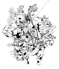 marvel heroes coloring pagesfree coloring pages for kids free