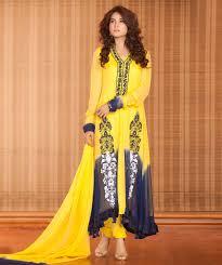 dress design yellow blue mehndi dress exclusive online boutique