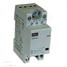 cr41 ac1 25a heating lighting contactor 4 pole n o contacts 220