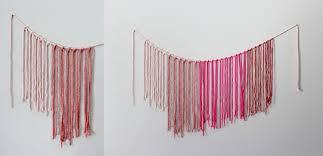 macrame yarn garland diy u2013 a beautiful mess