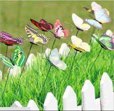 colorful wings big butterfly stakes garden ornaments