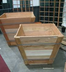 recycled wood tree box as raised vegetable planter the foodie