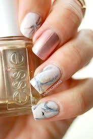 sarah lou nails rose gold marble nails