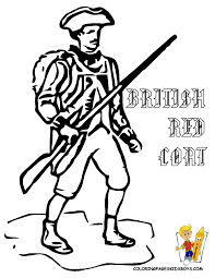 british red coats coloring pages
