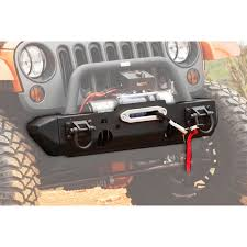 ridge front xhd modular bumper with winch mount and d rings