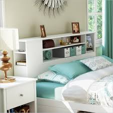 Modern White Headboard by Fantastic Ideas Headboard With Shelves Home Decorations