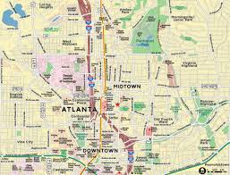 Maps Of Atlanta by Red Paw Technologies Downtown Midtown Atlanta