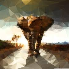 apple wallpaper elephant elephant polygon illustration 4k hd desktop wallpaper for 4k