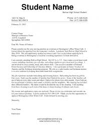 Best Solutions Of Cover Letter Best Solutions Of Cover Letter For Highschool Students With