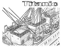 titanic coloring pages view from above coloring pages