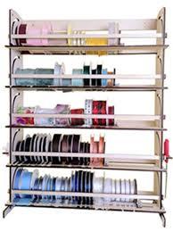 5 shelf desk organizer ribbon spool organizer ribbon holder organizer storage rack 5