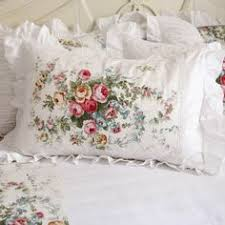 Shabby Chic Pillow Shams by Lace Love Pillow Sham White Gardens Lace Ruffle And Lace